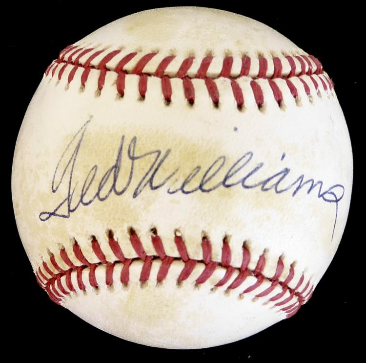 Red Sox TED WILLIAMS - Baseball Signed