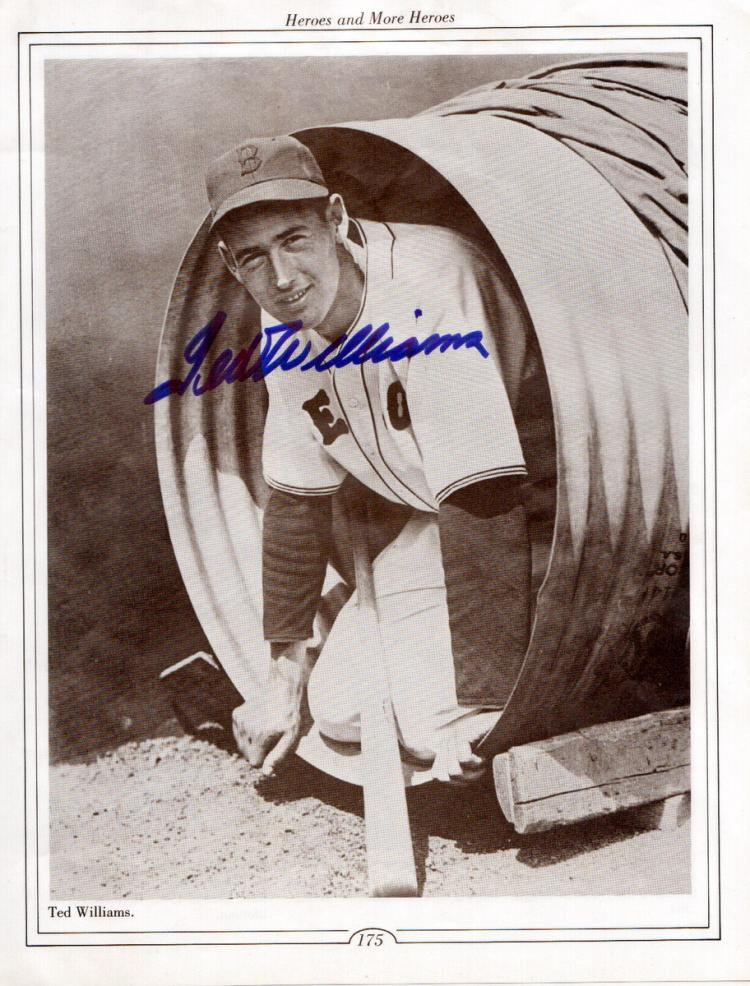 TED WILLIAMS - Photo Signed