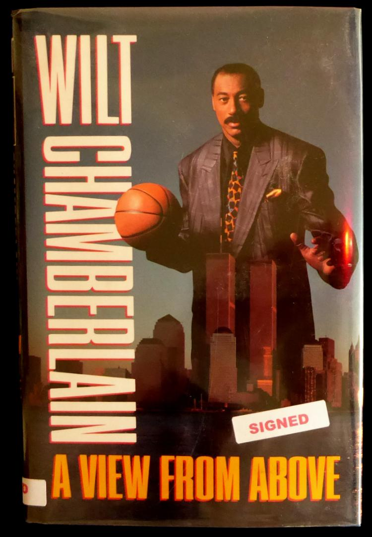 WILT CHAMBERLAIN - His Book Signed, 1st Ed