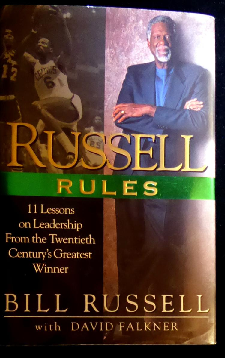 Celtic Center BILL RUSSELL - His Book Signed, 1st Ed