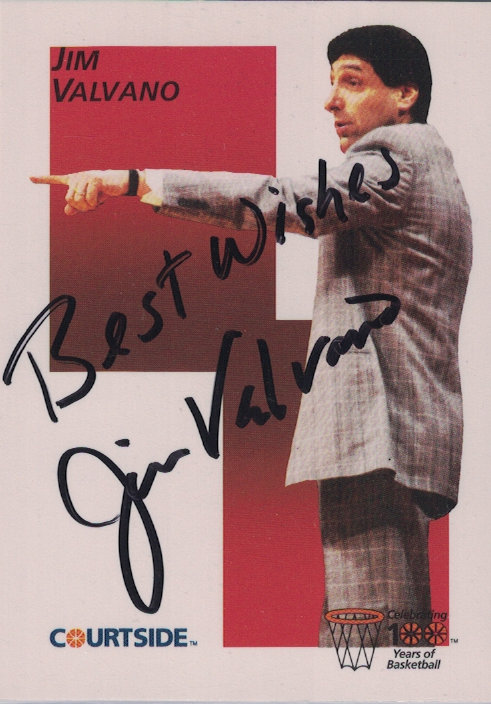 NCS Coach JIM VALVANO - Trading Card Signed
