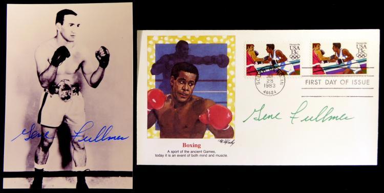 Boxer GENE FULLMER - Postal Cvr and Photo Both Signed