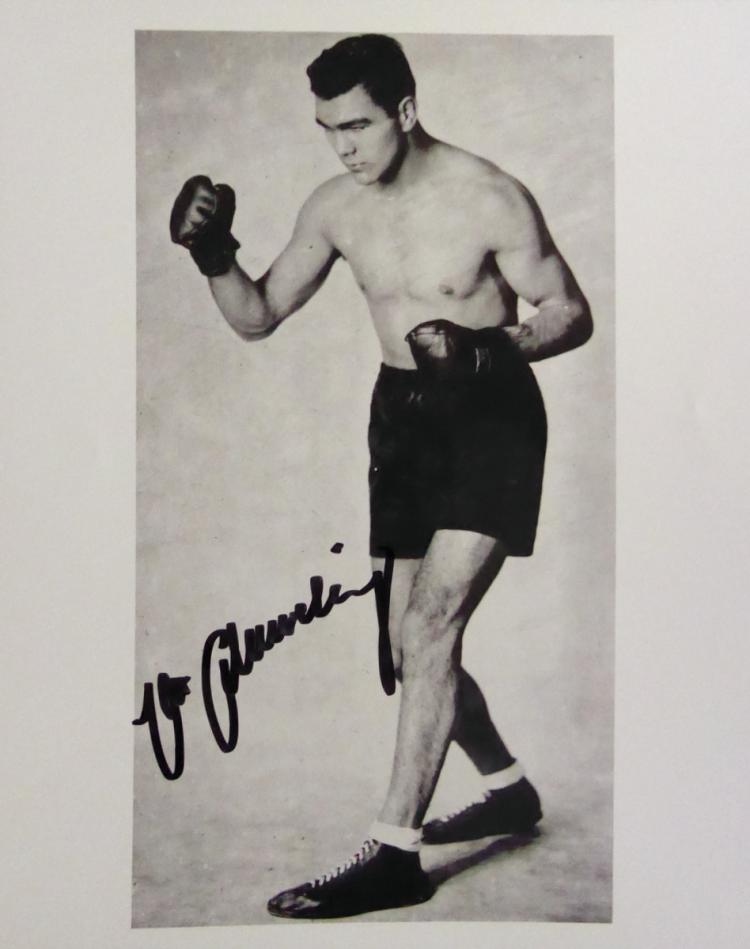Heavywgt Champ MAX SCHMELING - Photo Signed