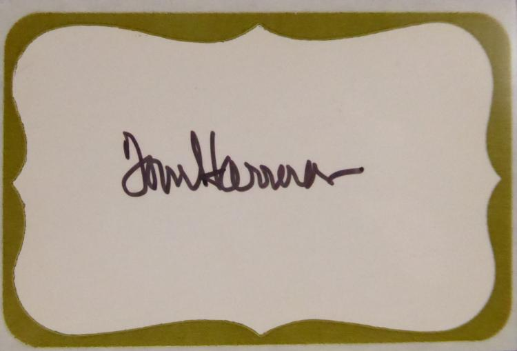 Running Back TOM HARMON - Mailing Label Signed