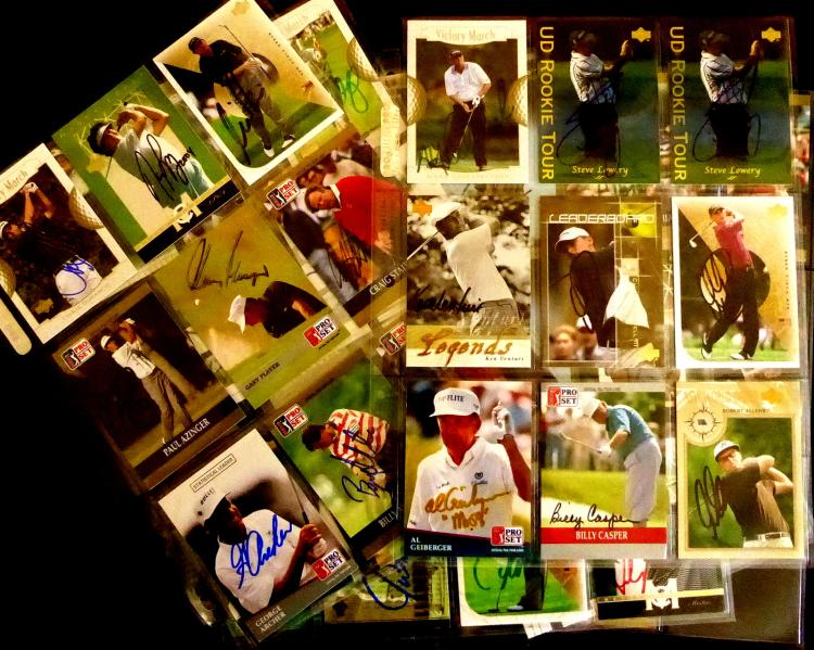 PGA - Pro-Set - SIXTY-TWO Signed Trading Cards