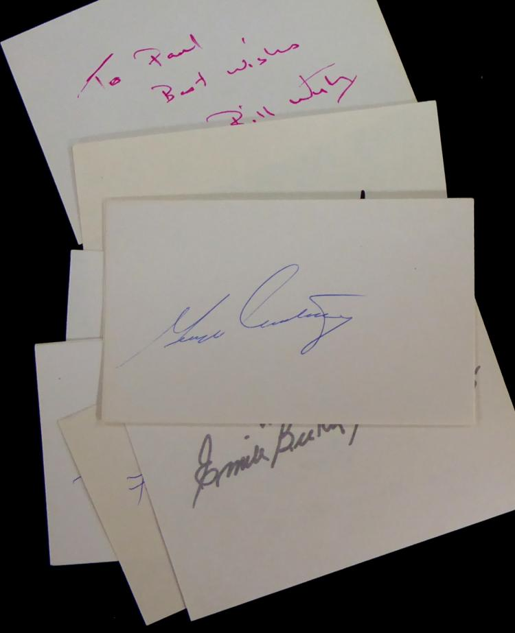 HOCKEY HALL of FAMERS - Eleven Cards Signed
