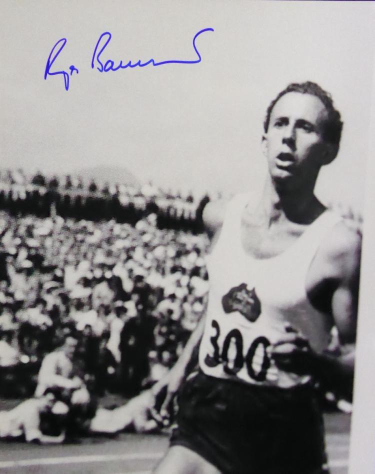 ROGER BANNISTER - Photo Signed