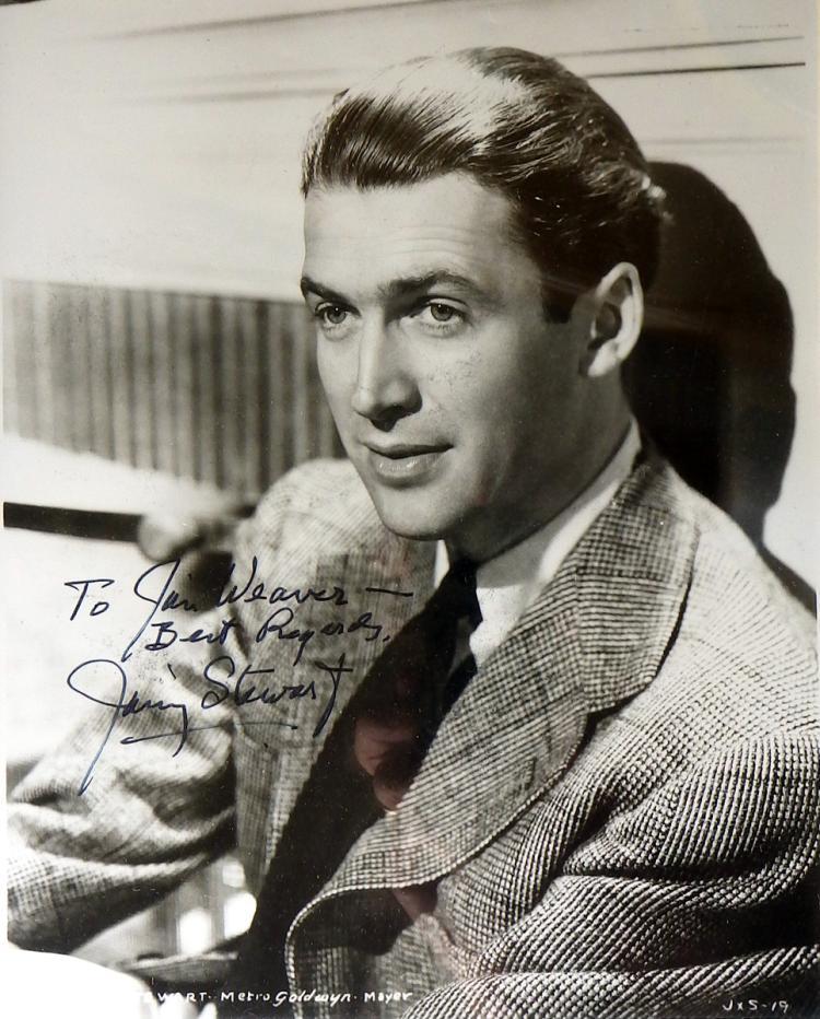 Actor James Stewart Photo Signed Framed