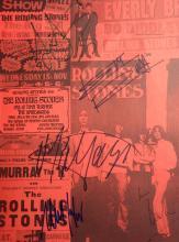 THE ROLLING STONES - Concert Program Cvr Signed