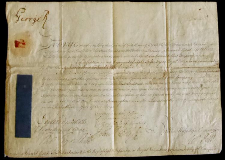 British Monarch GEORGE II - Doc Signed