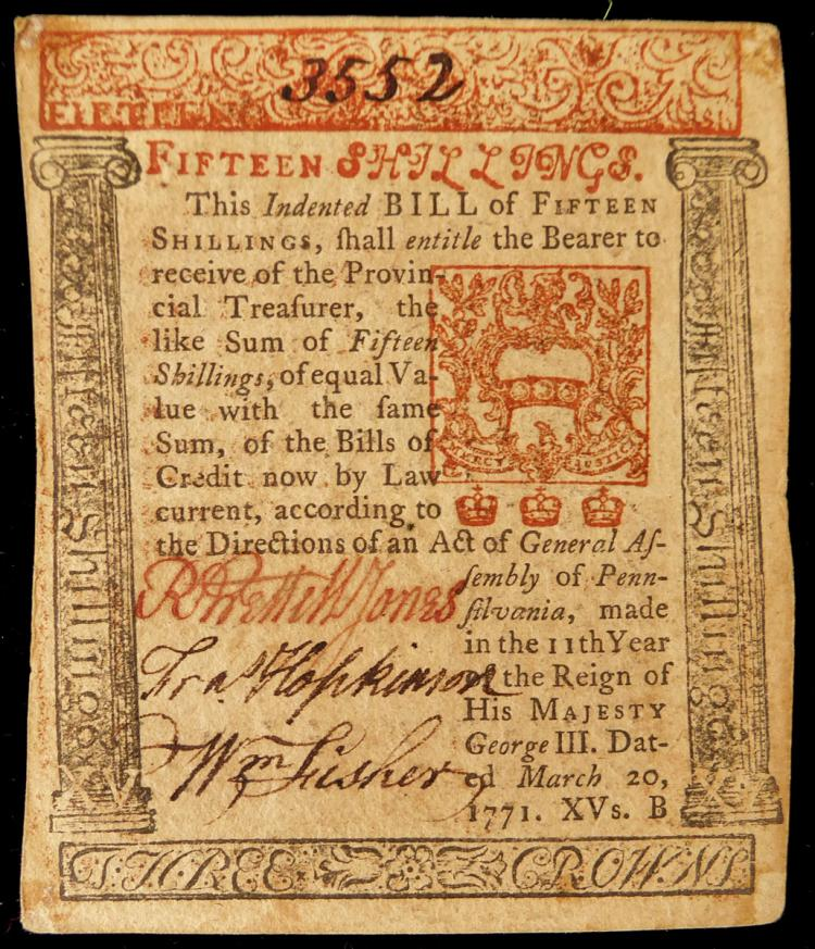 NJ Signer FRANCIS HOPKINSON - Currency Signed