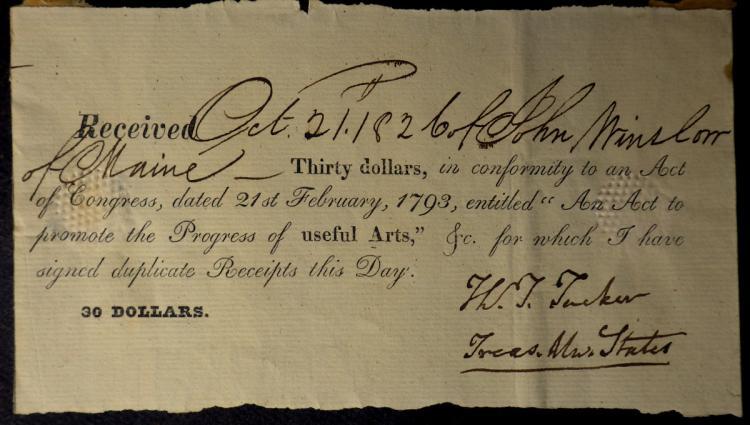 U S Treasurer THOMAS TUDOR TUCKER - Doc Signed