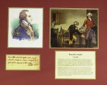 Gen, Traitor BENEDICT ARNOLD - Financial Doc Signed