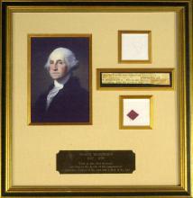GEORGE WASHINGTON - Siganture & Framed Archive
