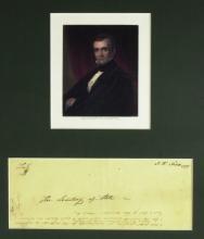 JAMES K POLK - Envelope Addressed and Franked