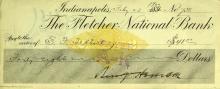 BENJAMIN HARRISON - Check Signed 1900