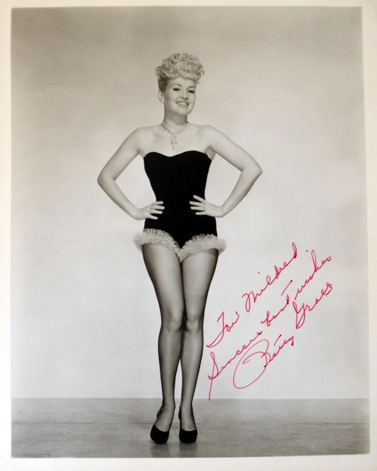 actress betty grable swimsuit photo signed betty grable home betty grables home in beverly hills