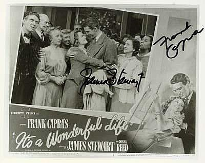 Autographs: James Stewart and Frank Capra