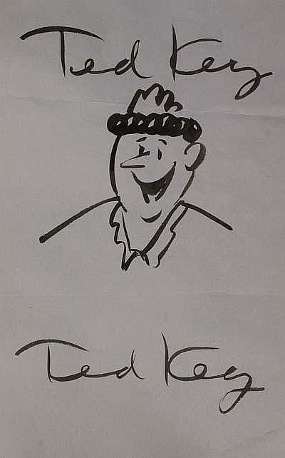 Autographs: Ted Key (1912-2008) Cartoonist. Key is