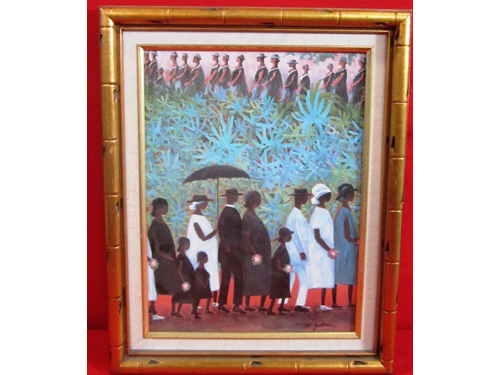 IDA Jackson Painting of Funeral Procession (KM)