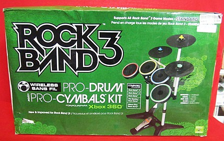 Rock Band 3 Pro Drum / Cymbals Kit for XBOX 360