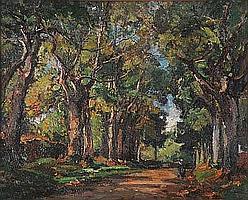 """Marcel PARTURIER (1901-1976) """"Allée de"""