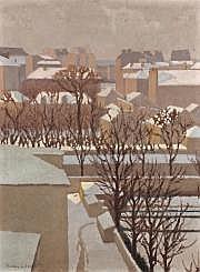 Charles LACOSTE (1870-1959) Neige au soleil dans