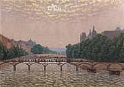 Charles LACOSTE (1870-1959) Le pont des Arts Huile