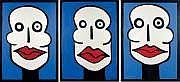 Georges MOQUAY (Né en 1970) La bouche rouge, 1996