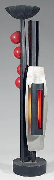 GISIGER Hansjorg (1919-2008) «Fleur». Sculpture