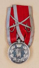 Principality of Schaumburg-Lippe: Silver Military Merit Medal, w/ Crossed Sabers 1870/71