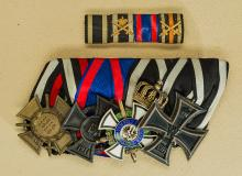 Imperial Four Piece Medal Bar for Naval Officer.