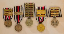 Kingdom of Prussia: Lot of War Commemorative Medals for 1870 - 1871 w/Clasps