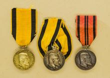 Kingdom of Wurttemburg: Lot of Military Merit Medals for Bravery and Loyalty