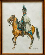 Imperial German Framed Print of Braunschweig Cavalry