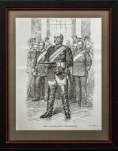 Imperial German Print Depicting GFM Bismark