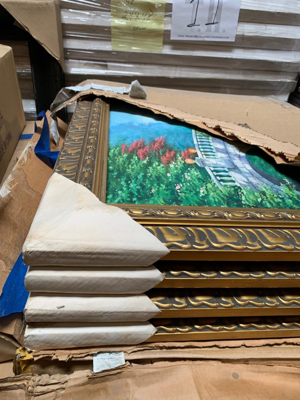 Pallet of Lights, Prints and Picture Frames