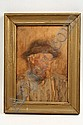 W/C Portrait Bearded Man Alfred Kappes NY, Alfred Kappes, Click for value
