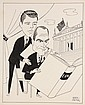 CARICATURE - George Wachsteter (1911-2004) Ink on Illustration Board Caricature Cover Design of E.G. Marshall & Robert Reed for 'The Defenders', 12