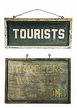 (2) MAINE CAMP SIGNS - Early Automobile Era, including: