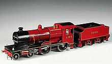 BOXED LOCOMOTIVE AND TENDER - A well engineered 2 1/2