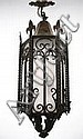 Baroque Style Wrought Iron Hexagonal Lantern