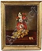 OOC Still Life Grapes  &  Portrait Vase S F 1864