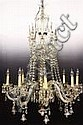 c1930s 8-Arm Brilliant Cut Crystal Chandelier