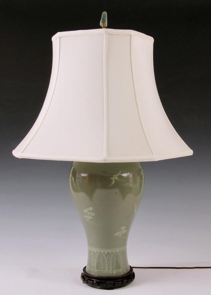 Korean Celadon Vase As Lamp