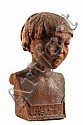 Mahogany Sculpture Japanese Boy V H Walter c1930s, Valerie Harrisse Walter, Click for value