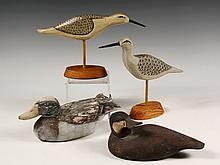 (4) LONG ISLAND DECOYS - Including: (2) Sandpipers signed