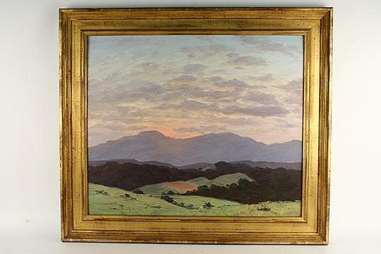 OOP California Hillside Sunset J E Greer RI