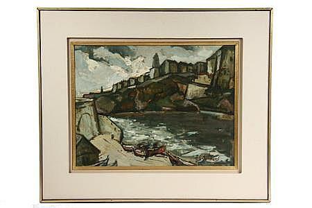 OOB Painting Coastal Village Harold Rotenberg MA