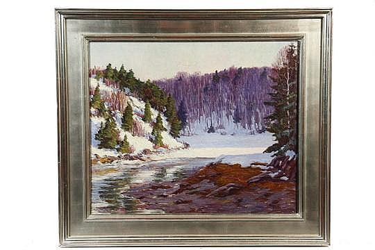 OOC Painting 'Winter Inlet' John N Haapanen MA '26